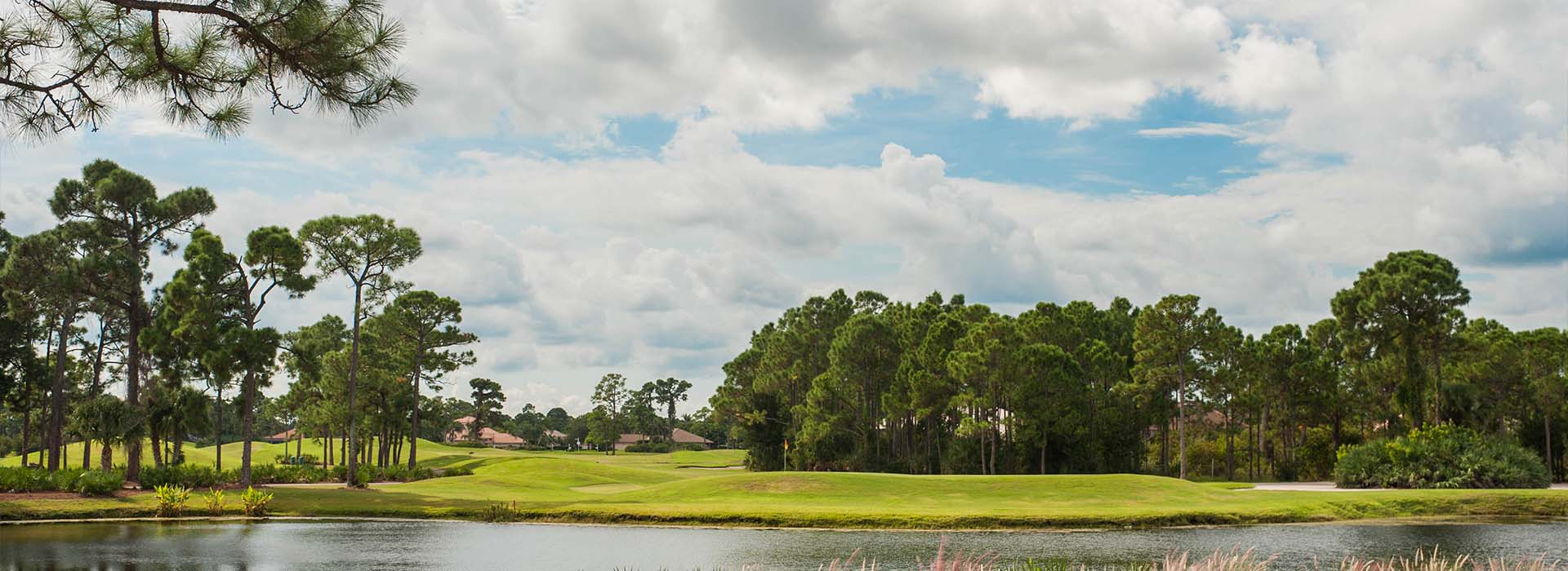 St. Lucie Trail Golf Club in Port St. Lucie is seen from across a lake