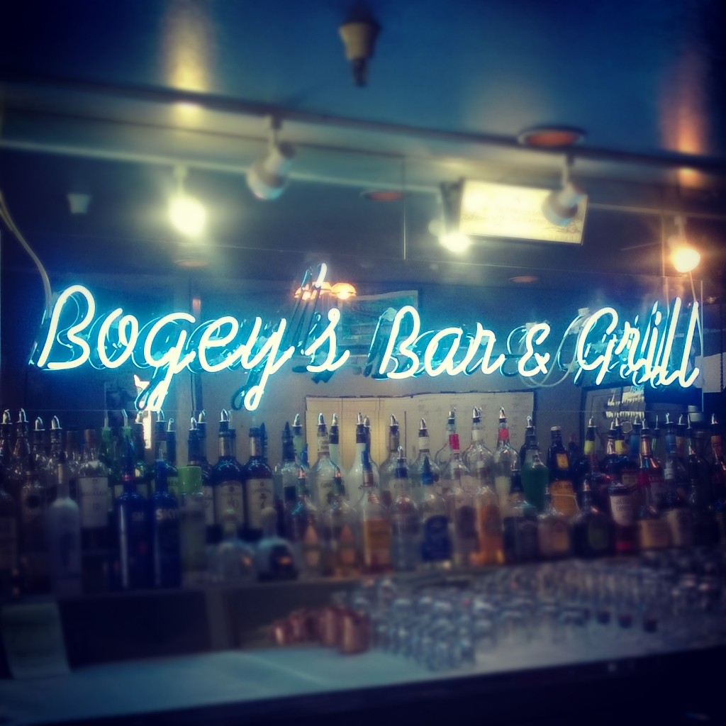 Bogey's Bar and Grill sign